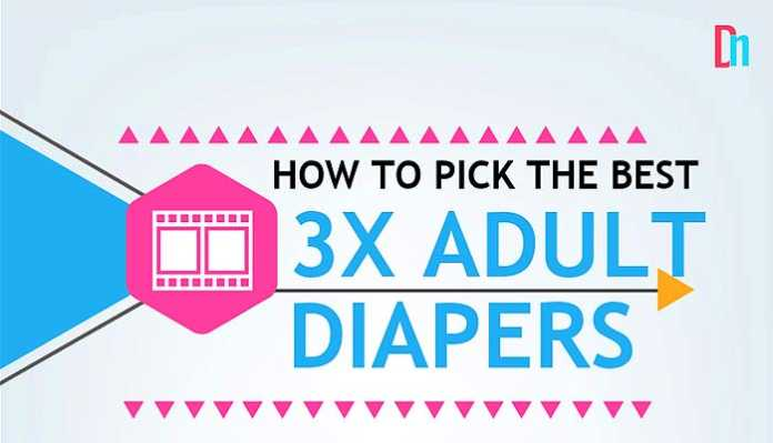 3x Diapers For Adults