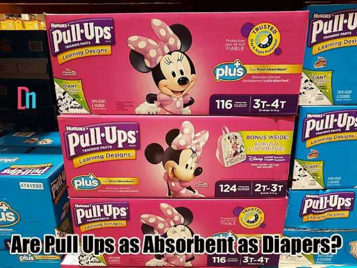 are pull-ups as absorbent as diapers?