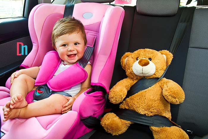 Car seat stroller safety features